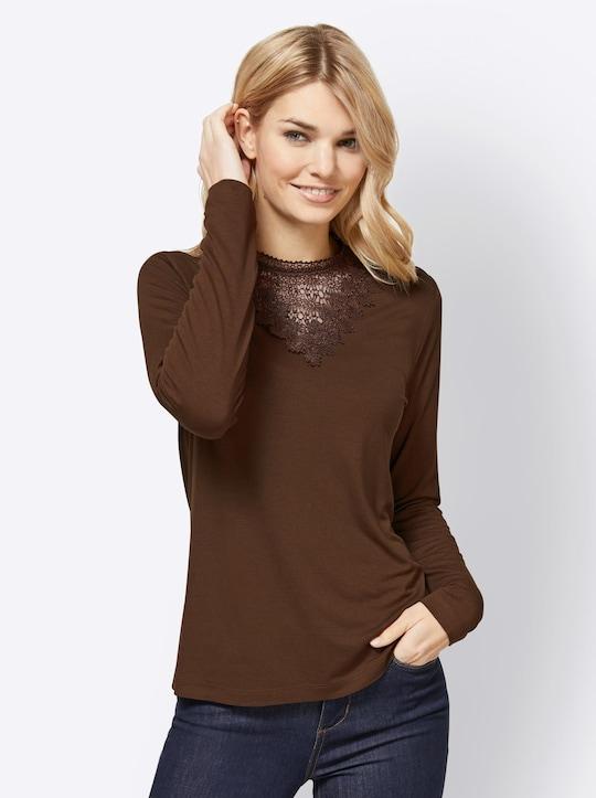 Linea Tesini Shirt - chocolade