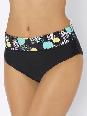 feel good Bikinibroekje - zwart/mint bedrukt