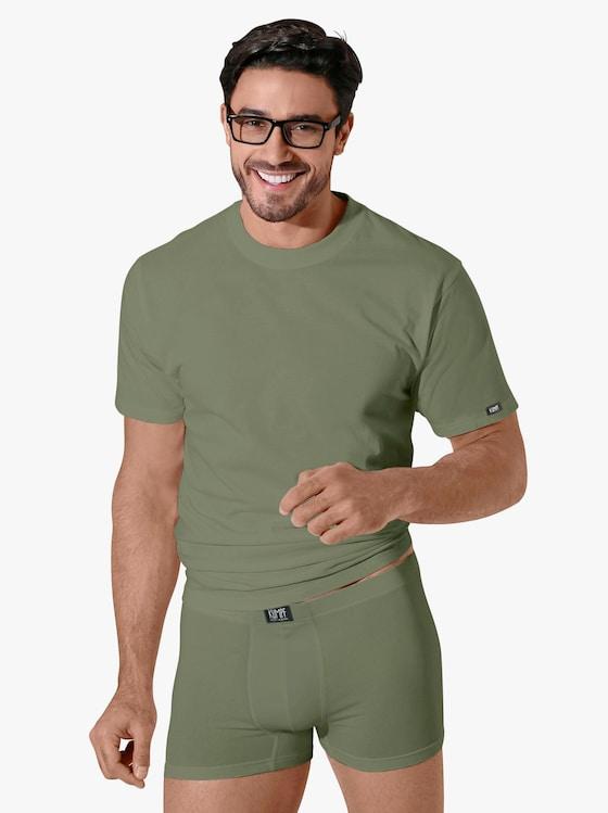 Kumpf Shirt - weiß + khaki