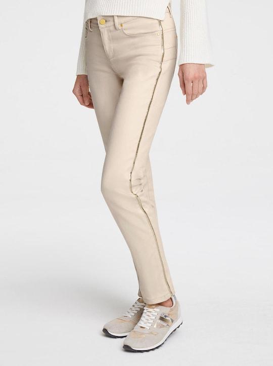 Bauchweg-Jeans - sand