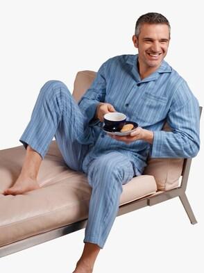 Pyjama - blau-gestreift