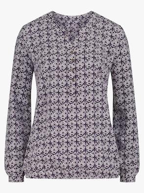 Bluse - violett-bedruckt