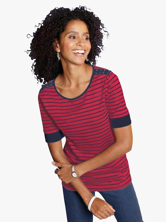 Tričko - červená-proužek