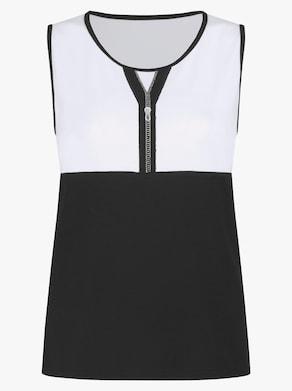 Shirttop - schwarz-weiß