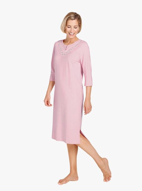 wäschepur Nachthemden - ecru + rosé