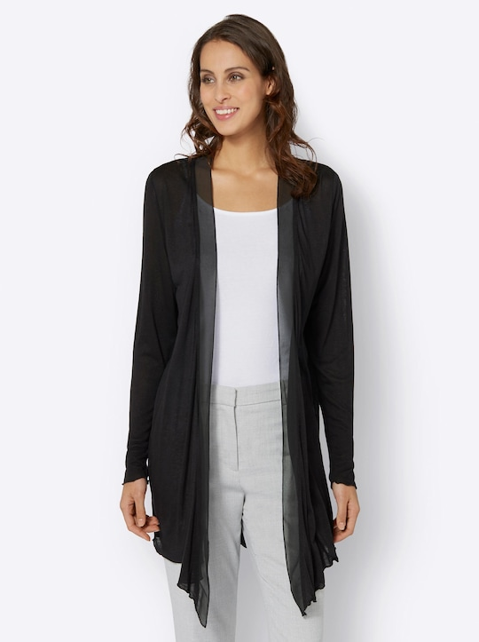 Fair Lady Long-Shirtjacke - schwarz