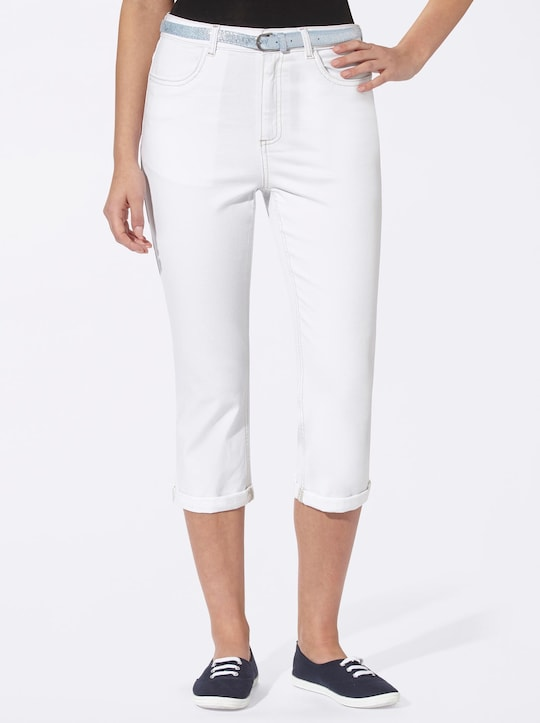 Capri-jeans - wit