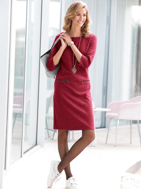 Jersey-Kleid - dunkelrot