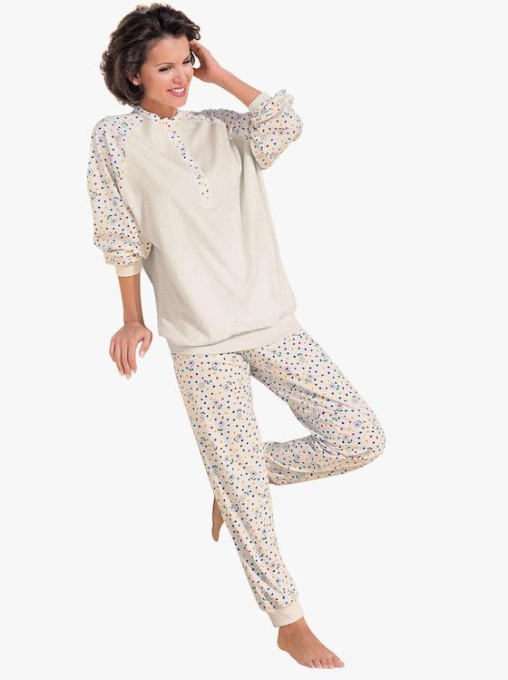 Ascafa Schlafanzug - natur-bedruckt
