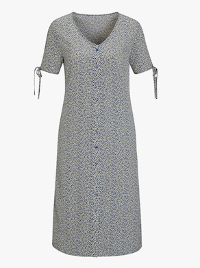 Šaty - bledomodrá vzorovaná