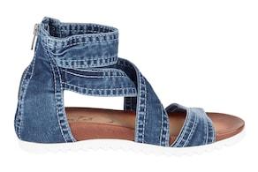 Sandalette - jeansblau