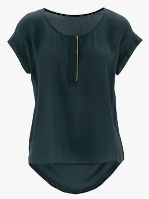 Schlupf-Bluse - tannengrün