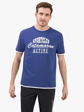 Vrijetijdsshirt - koningsblauw