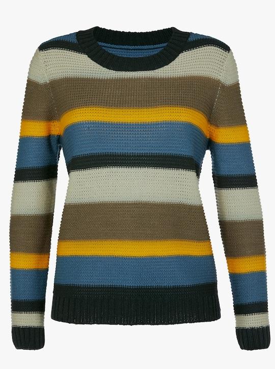 Pullover - groen/geel gestreept