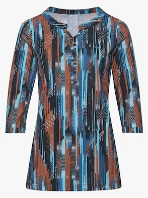 Tričko - modrá-vzor