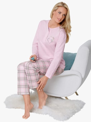 wäschepur Schlafanzug - rosé-kariert