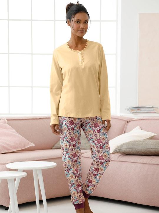 wäschepur Schlafanzug-Hose - geblümt