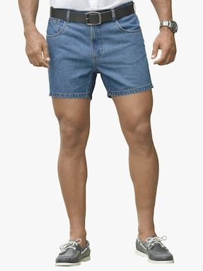 Jeans-Shorts - blue-bleached