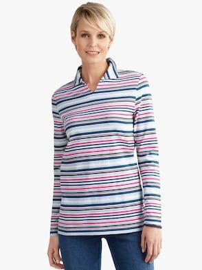 Tričko - hrdzavá-pruhovaná