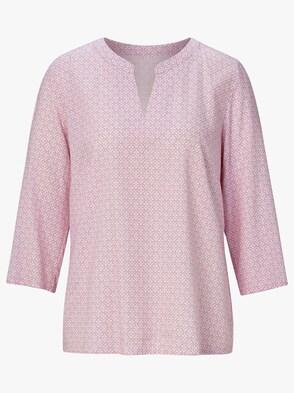 Bluse - rosé-gemustert