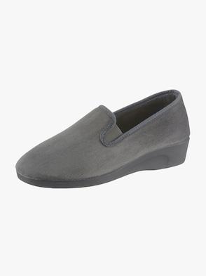 Hausschuh - grau