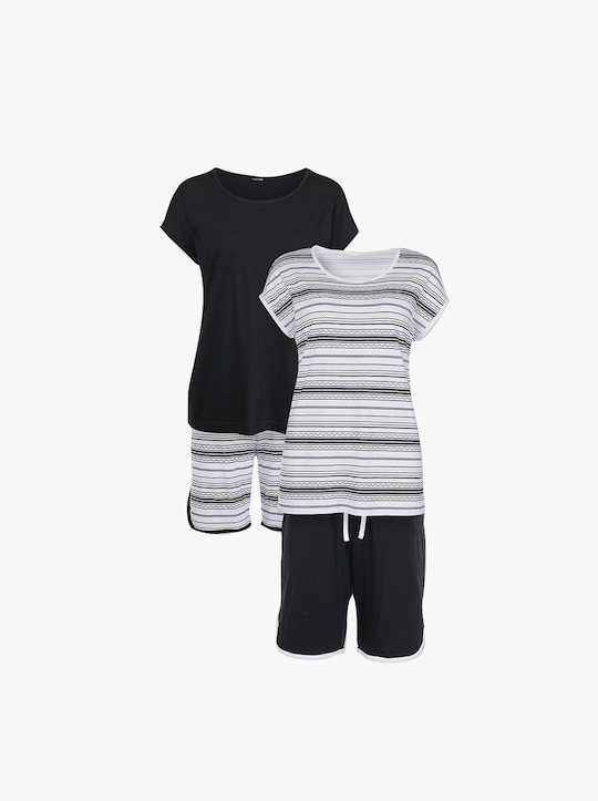 wäschepur Shortys - schwarz + weiß