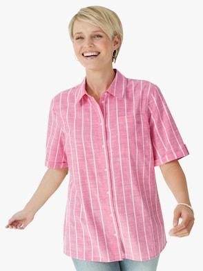 Bluse - pink-gestreift