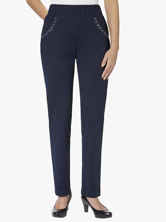 Žerzejové kalhoty - námořnická modrá