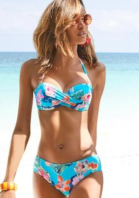 LASCANA Bügel-Bandeau-Bikini - türkis-bedruckt