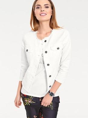 Linea Tesini Jeans-Jacke - ecru