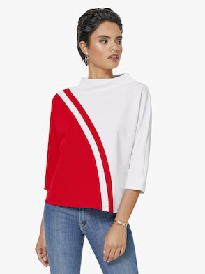 Shirt - weiß-rot