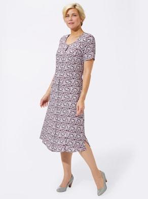 Kleid - bordeaux-geblümt