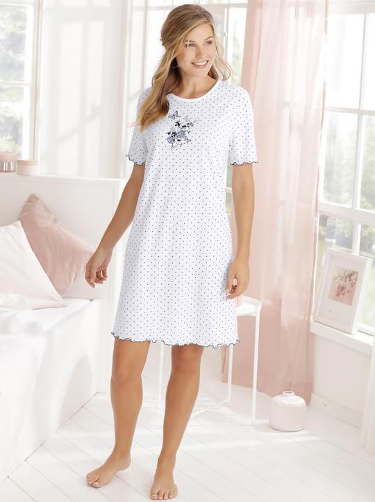 Nachthemd - weiß-bedruckt