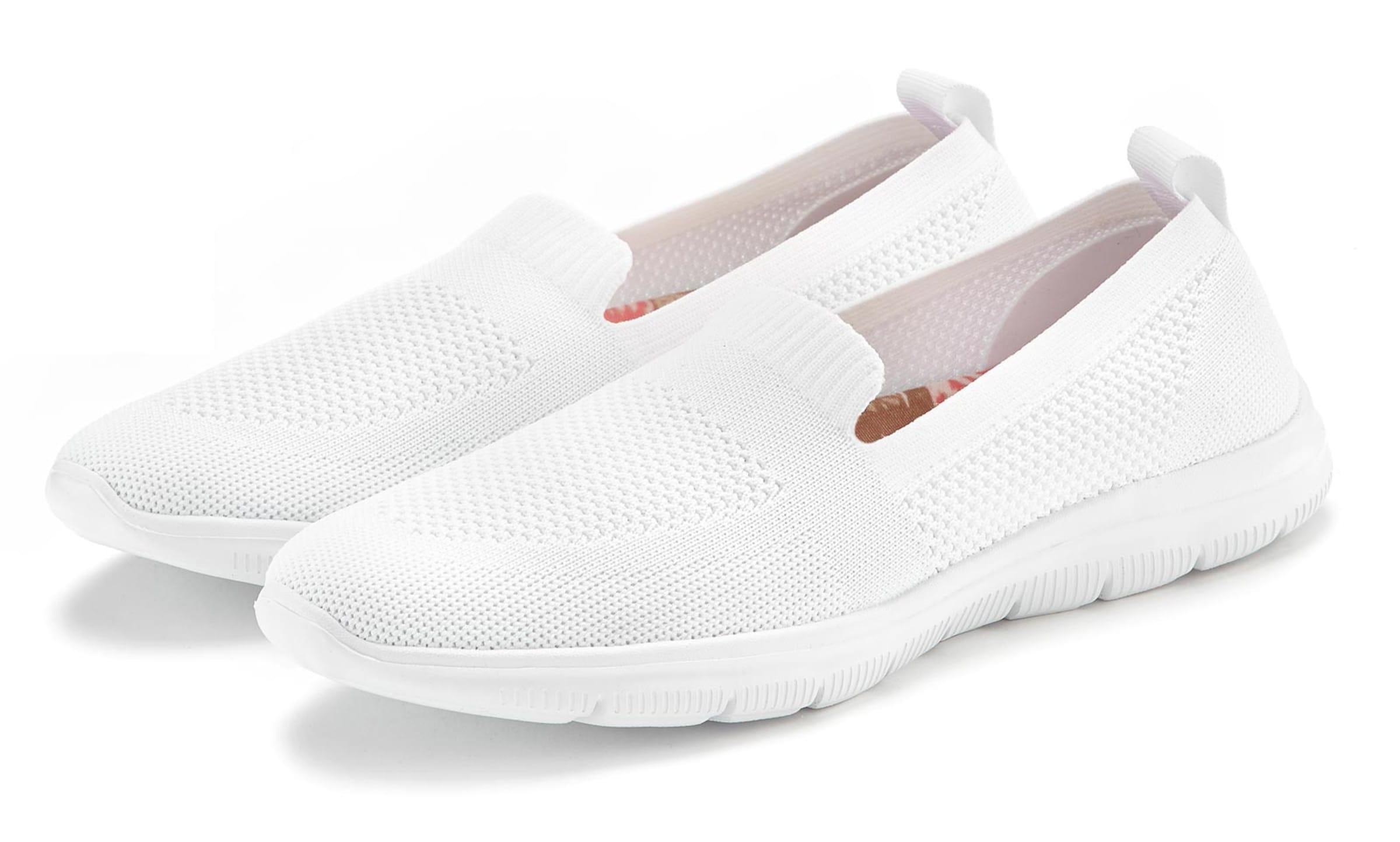 lascana - Witt Weiden Damen Slipper weiß