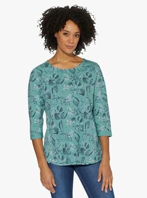 Tričko - šalvějová-potisk