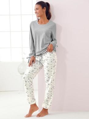 wäschepur Pyjama - ecru geprint