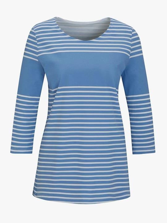 Shirt - bleu gestreept