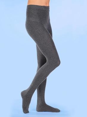 Strick-Strumpfhose - grau-meliert