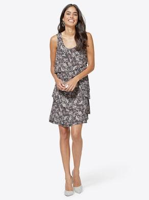 Kleid - grau-bedruckt