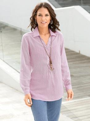 Gestreepte blouse - roze gestreept
