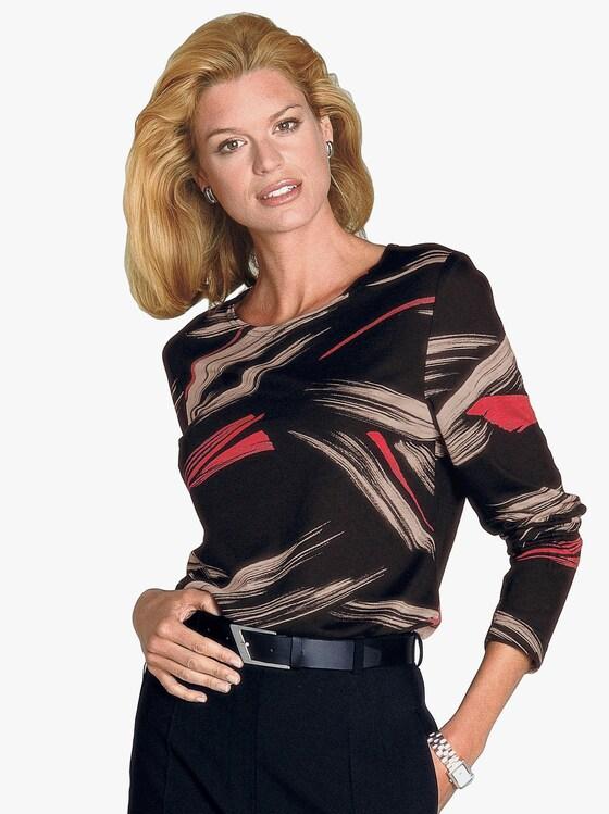 Tričko - černá-vzor