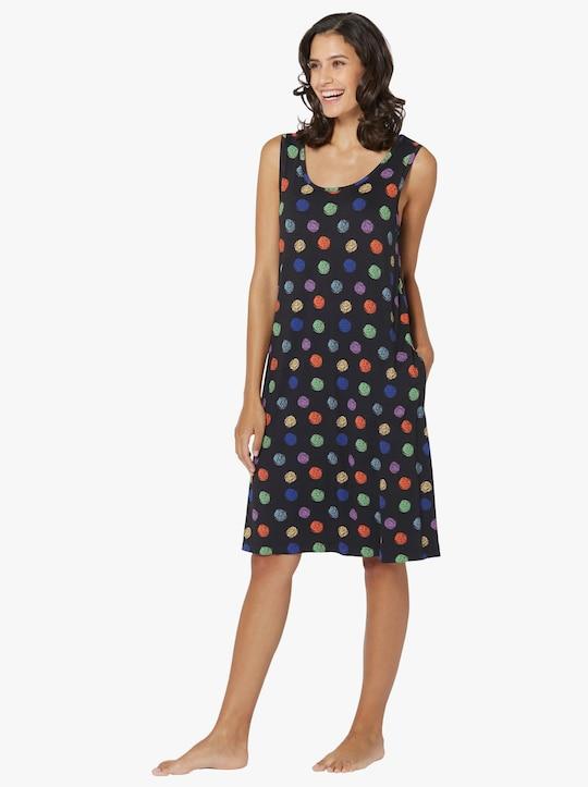 feel good Letní šaty - černá-pestrá-potisk