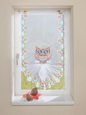 Fenster- und Türbehang - Eule braun