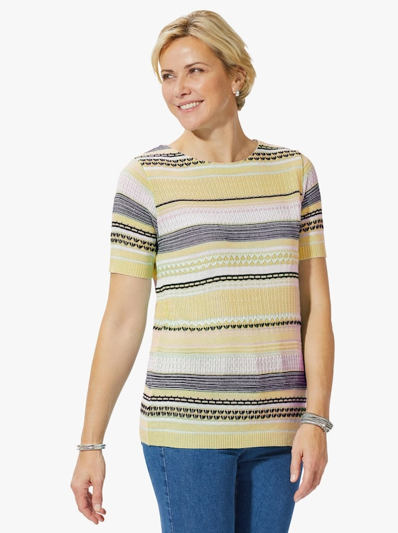 Collection L Pullover - vanille gedessineerd