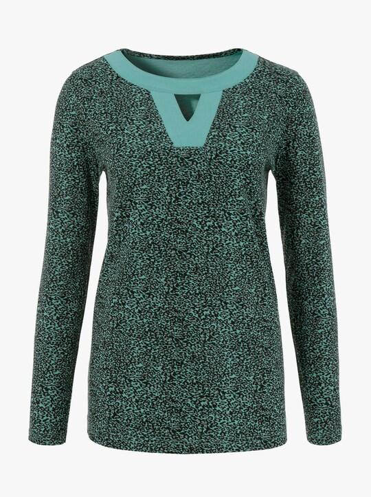 Tričko - šalvějová-vzor