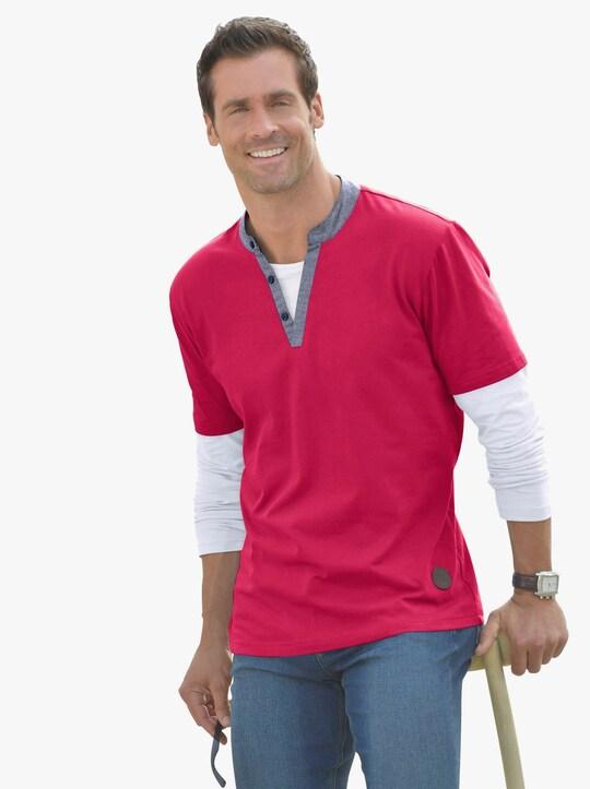 Marco Donati Tričko s dlouhým rukávem - červená