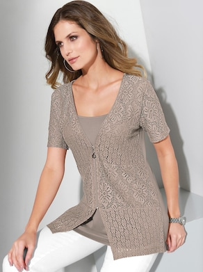 2-in-1-Shirtjacke - taupe