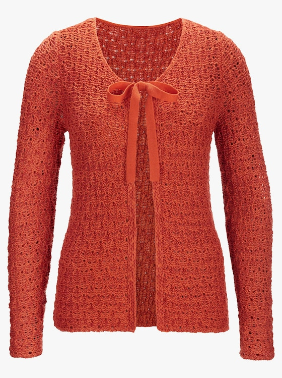 Strickjacke - orange