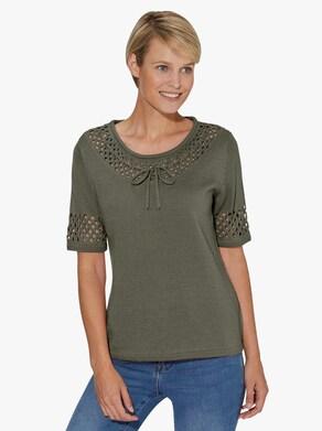 Kortärmad tröja - khaki
