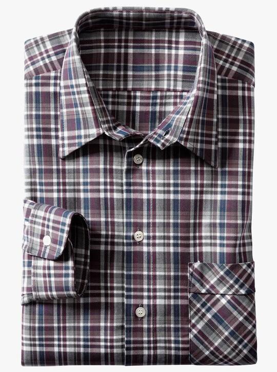 Hemd met lange mouwen - bordeaux geruit